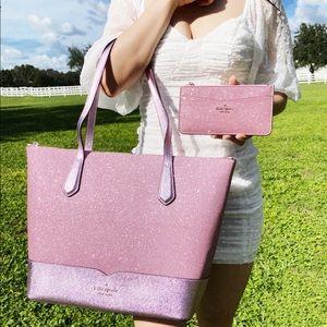 SET💞NWT Kate Spade Rose Pink Tote & Wallet